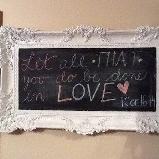 My chalkboard inspiration!!!!!