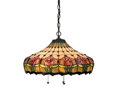 Lamps & Lighting:Ceiling Fixtures - Colonial Tulip Pendant Ceiling Fixture