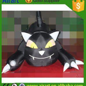 Black Halloween Inflatable Cat (5)