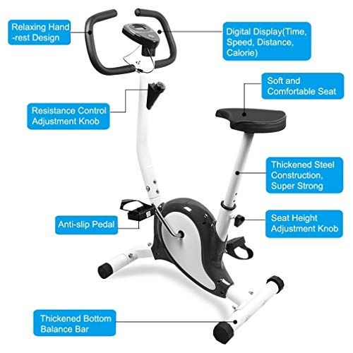 Comots Quiet Training Exercise Bike Indoor Spin Bike Height