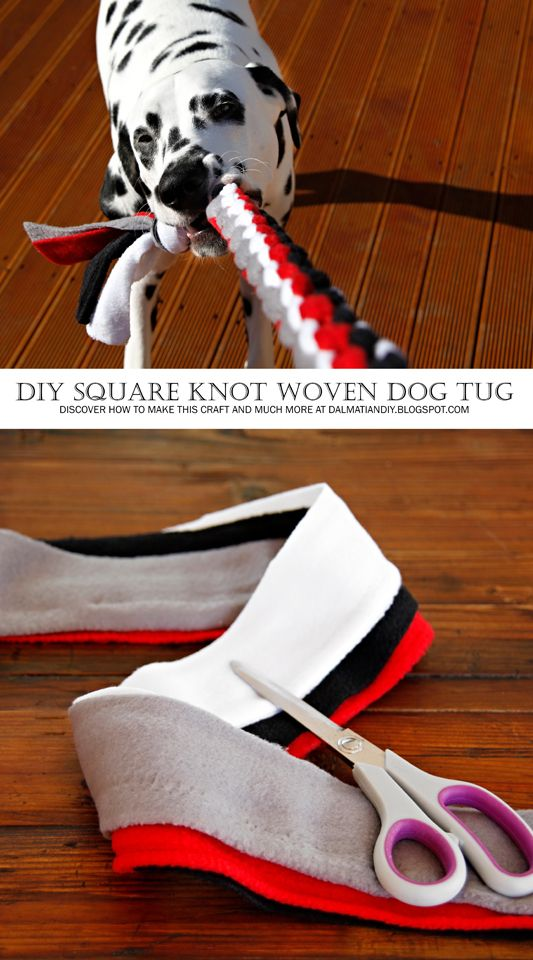 Dog Toy DIY: How to Weave a Square Knot Tug Toy (Includes Instructions, Pictures, and Diagram):