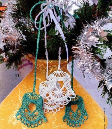 weihnachten glocken h keln crochet bells handmade. Black Bedroom Furniture Sets. Home Design Ideas