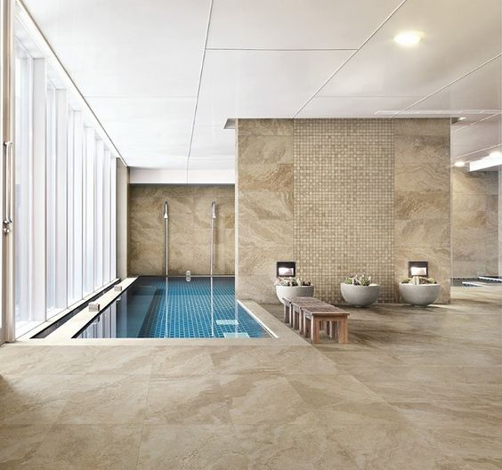 Badkamer Showroom Tiel ~ Bathroom tile, floor tile, stone look tile Rapolano 3D in silver