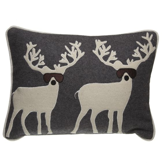 This fun red or grey cushion features a quirky duo of goggled reindeer, perfect for adding a light-hearted touch of festive charm to any room in the home. ​ Dimensions: 40x30cm ​ Product Code:​ CCC005A red £19.99 ​CCC005b grey £19.99
