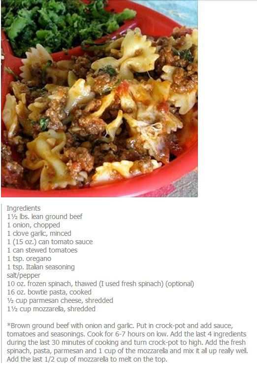 Ground beef bowtie casserole for dinner tonight super for Hamburger dinner ideas for tonight
