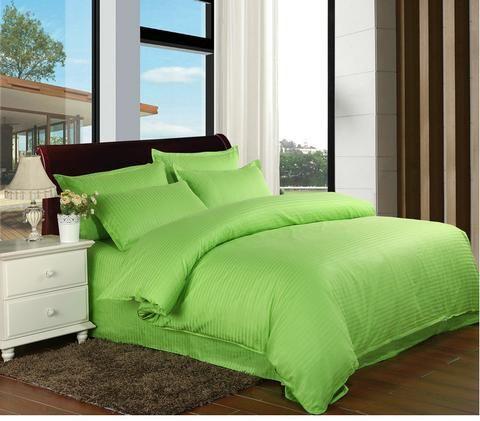 Ebay 100 Cotton Satin Stripe Bedding Sets Twin Full Queen King 3 4pcs El Home Textiles Duvet Cover Sets Pillowcase Kekegentleman