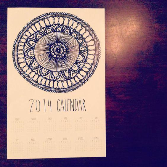 """2014 Wall Calendar 11""""x17"""""""