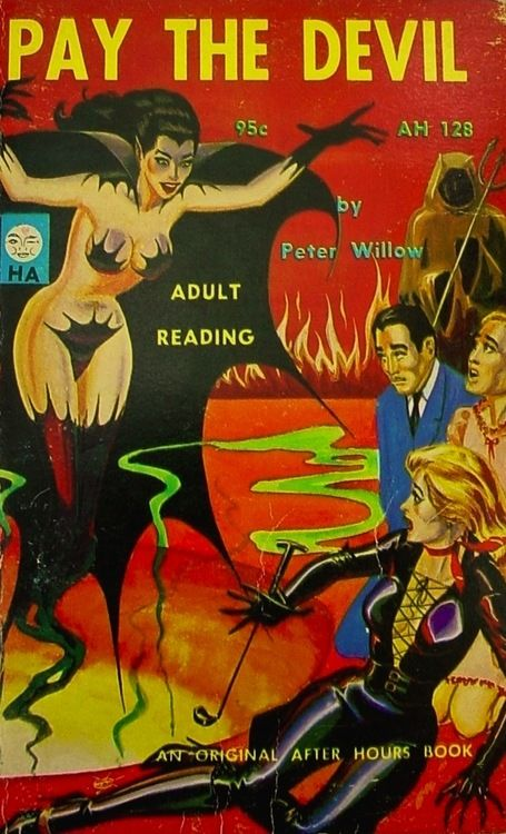 Book Cover Artist Pay : Eric stanton cover pay the devil by peter willow after