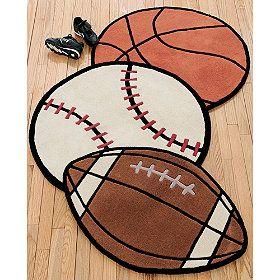 Sports rugs boy room ideas pinterest boys youth for Sports themed bathroom ideas