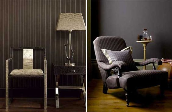 Pinstripe lounge chair - from blog.2modern:
