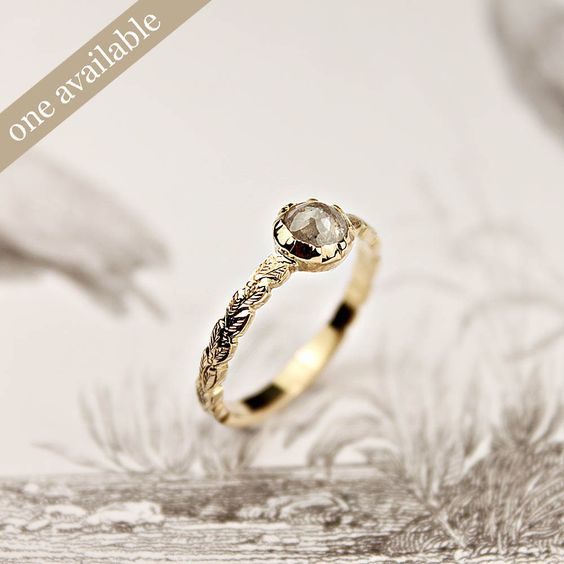 18ct gold, opaque diamond ring {No.12A} by rust: Diamond Rings, Diamonds, 18Ct Gold, Opaque Diamond, Products