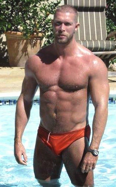 Guys speedos and don ts on pinterest for Pool guy show
