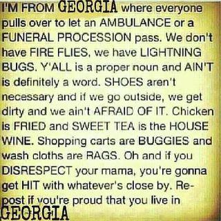 Georgia Peach till death.