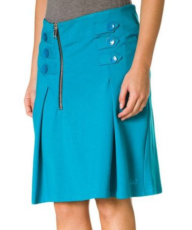 Take a look at this Turquoise Saya Skirt by Hookahey on #zulily today!