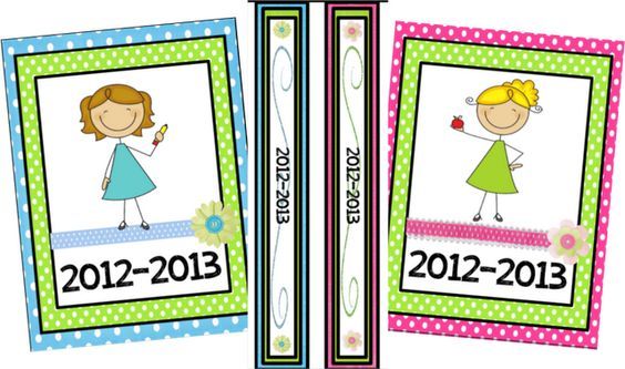 Printable binder covers, inserts, calendars....these are SO cute!!!