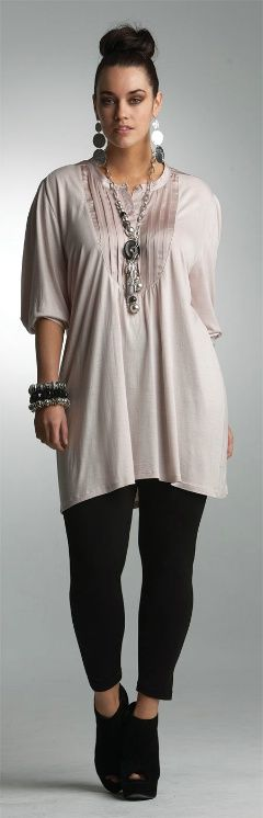 PRETTY IN PINK TUNIC## - Tops - My Size, Plus Sized Women ...