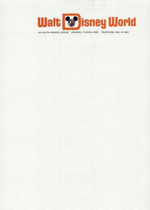 25 Letterhead Designs That Will Get You Writing! Disney - Official Letterhead