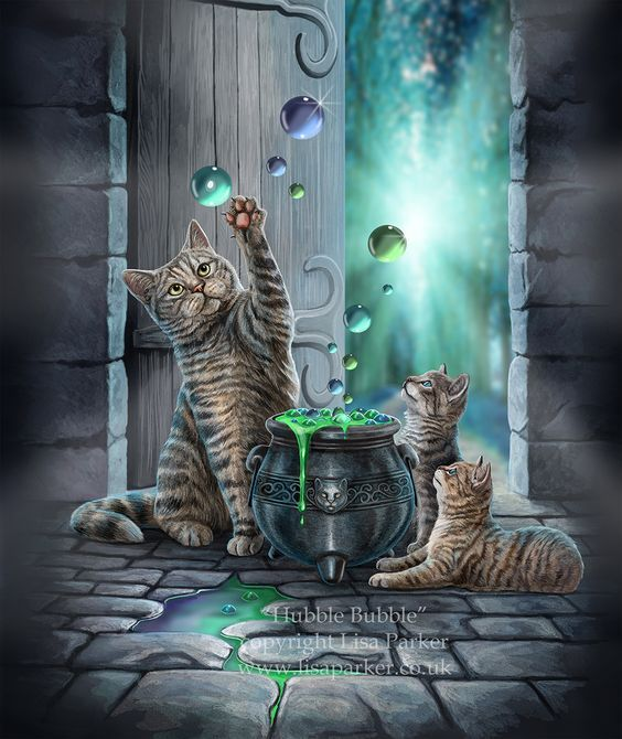Moonsong Daily Magick In 2020 Cat Art Cat Artwork Animal Art