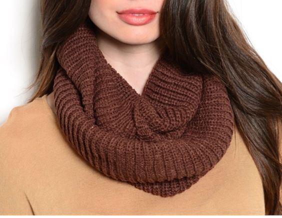 Brown crochet scarf $8.00