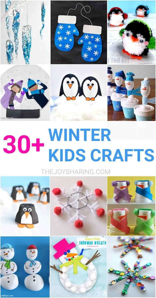30 Easy Winter Crafts For Kids By The Joy Of Sharing We Curated