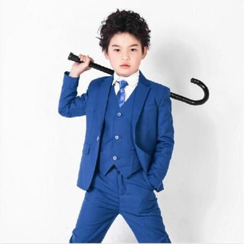 Children/'s Formal Suit baby Boys Shirt Vest Pants Wedding Outfit Clothing Set