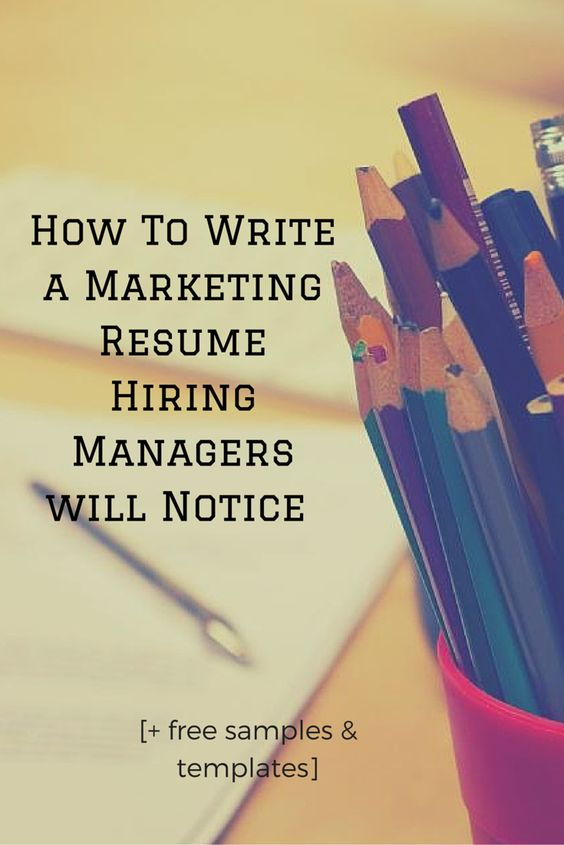 Write a good marketing cv