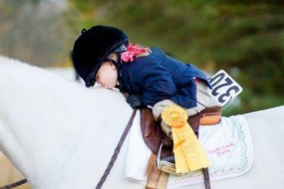 Big Equine, little girl in pigtails kissing her horse. She won a ribbon in a…: