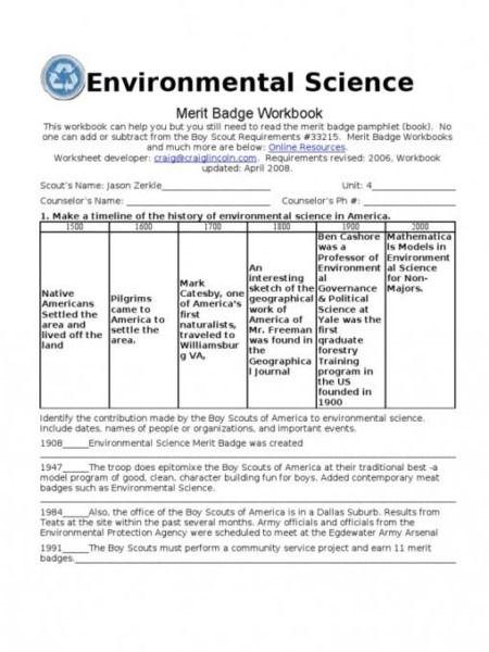 Environmental Science Merit Badge Worksheets High School Science Activities Environmental Science Persuasive Writing Prompts