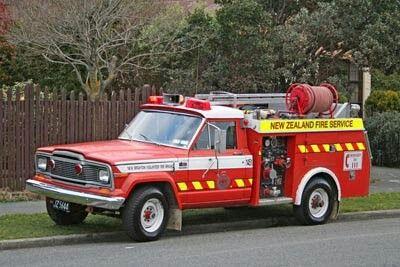 New Zealand Fire Service Jeep Fire Truck