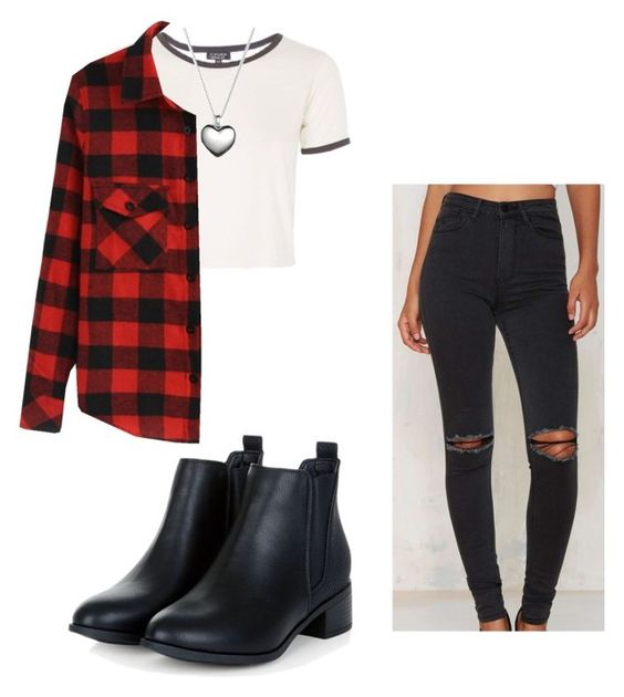 """Set#172"" by anneclo2 on Polyvore featuring RES Denim, Topshop, Pandora, women's clothing, women, female, woman, misses and juniors"