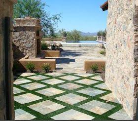 Terraza De Casas Coloniales Jardines Patio Y Jardin Piso Jardin