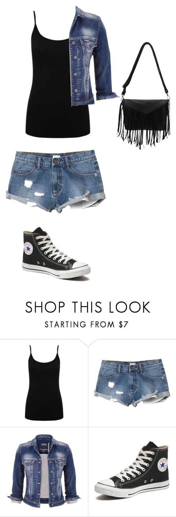 """Getting ready for a day out with Austin"" by anoai ❤ liked on Polyvore featuring M&Co, RVCA, maurices and Converse"