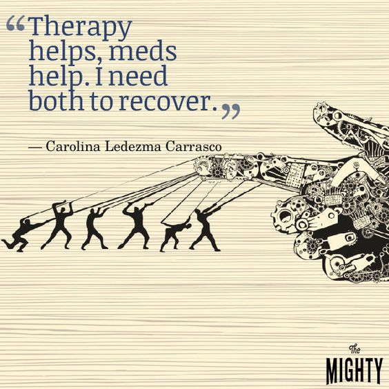 quote by Carolina Ledezma Carrasco: Therapy helps, meds help. I need both to recover.
