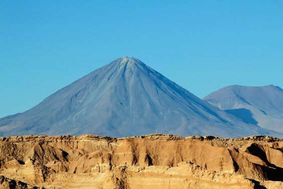 The 19,409-foot Licancabur volcano towers over Chile's Atacama Desert, a place so arid that some places haven't had rain in recorded history.