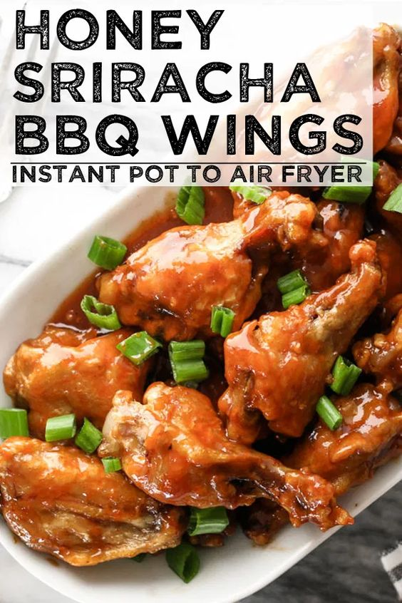 Honey Sriracha BBQ Wings - Instant Pot to Air Fryer