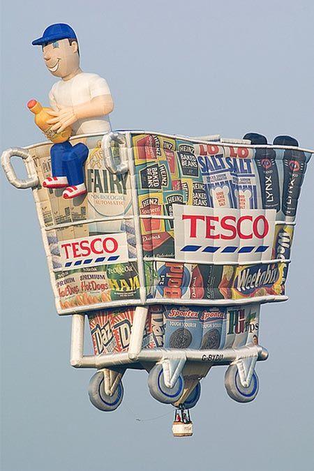 @Lindsey Carter   Balloon shopping cart - TESCO