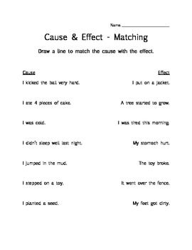 math worksheet : 3 worksheets to practice understanding cause  effect! matching  : Cause And Effect Kindergarten Worksheets