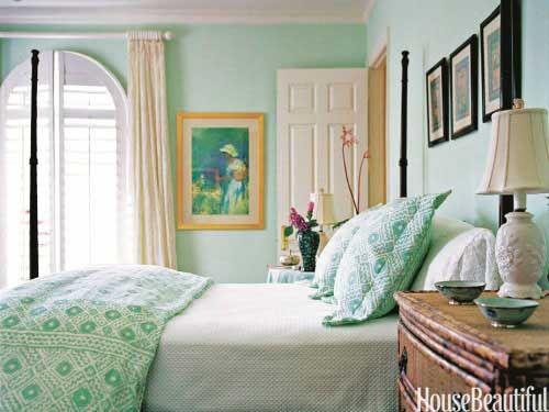 mint bedroom - love!