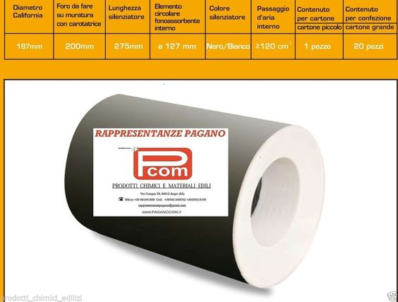 Silenziatore insonorizzante filtro presa d 39 aria per ventilazione areazione casa edilizia - Prese d aria per casa ...