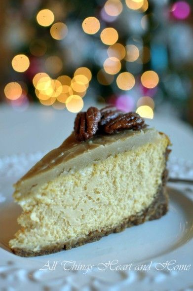 Pumpkin Cheesecake w/ Ginger Snap-Pecan Crust & Praline Topping~Gluten ...