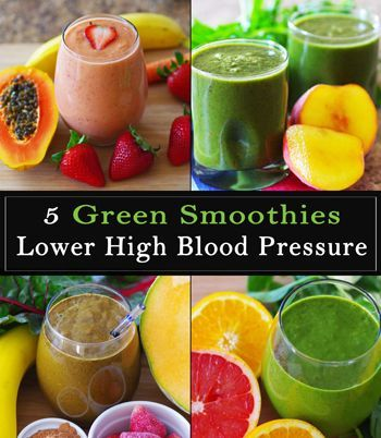 5 Green Smoothies To Lower High Blood Pressure | Smoothies and Juicing | Pinterest | Blood ...