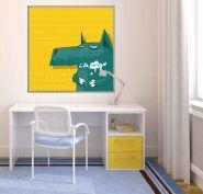Cuadros Infantiles, Juveniles Ilustración infantil: Lobo - Decoración, decoración de paredes, decoración de habitaciones -  Trabajo de decoraconimaginacion.com