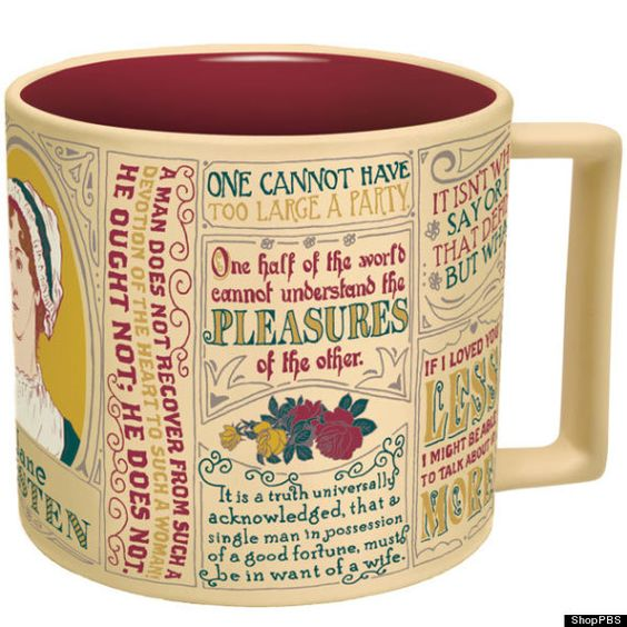 Mug with Jane Austen quotes. So cool!: