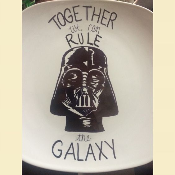My first Sharpie Plate. I'm doing a Star Wars themed Valentine's Day gift for my boyfriend, so this will be perfect to add to it.