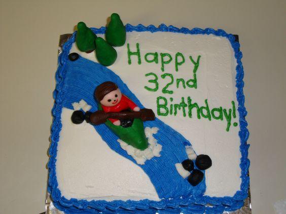 3D Kayaking Themed Birthday Cake