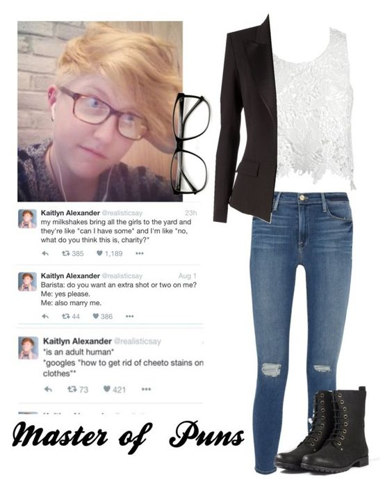 """""""Kaitlyn Alexander"""" by an-internet-girl ❤ liked on Polyvore featuring ZeroUV, Sans Souci, Frame Denim, Alexandre Vauthier, fandom and kaitlynalexander"""