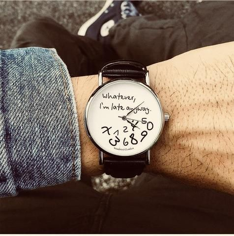 I M Late Anyway Watch Fashion Watch Meme Product Watch Fashionwatch Accessories Memes Creativeproducts Fun Watch Design Watch Gifts Watches Unique