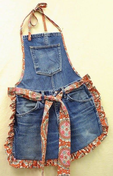 Mary Jo's Cloth Design Blog: Recycle Old Blue Jeans into a Fun Apron: