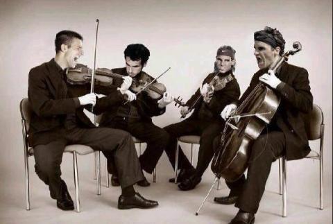 """""""The Big Four reinvented. The Tennis String Quartet?"""" (via @judmoo):"""