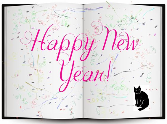 Happy New Year from my publisher's desk! Working with them was the best fun ever! Looking forward to many more of my books with the Black Cat on their covers. :)
